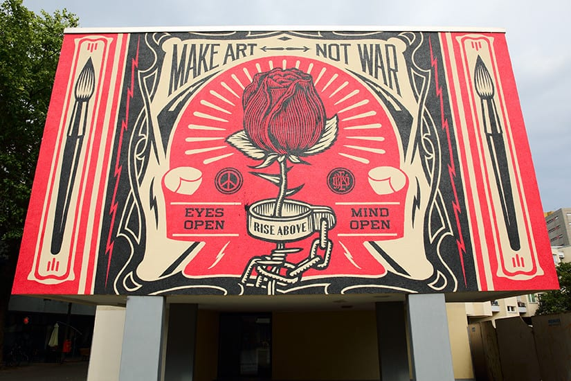 Berlijnse Street Art - Make Art Not War