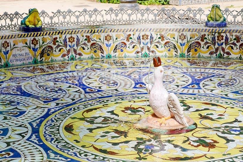 Citytrip Sevilla Bezienswaardigheden - Fontein Parque de Luisa María - door AGMJ