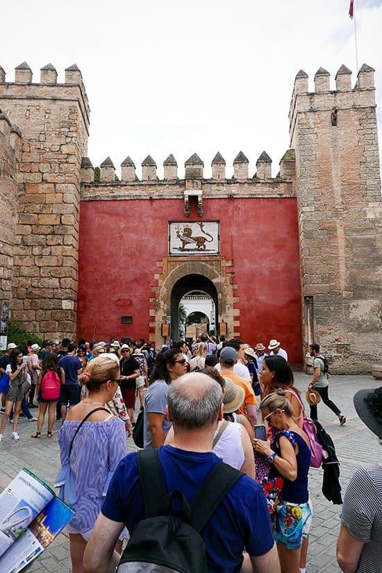 Citytrip Sevilla Bezienswaardigheden - Ingang Real Alcázar de Sevilla - door AGMJ