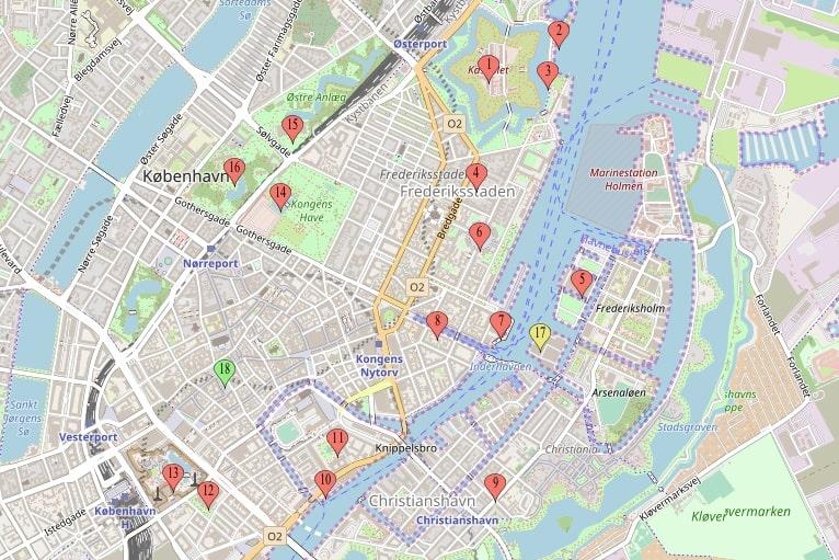 Citytrip Kopenhagen bezienswaardigheden - City Map - door AGMJ