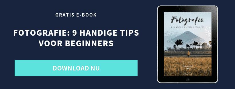 E-book - Fotografie - 9 handige tips voor beginners - CTA