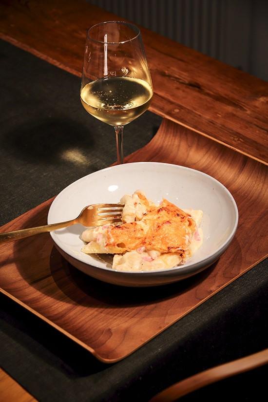 Rigatoni and cheese - heerlijke pasta met ham en kaassaus - pastarecept - door AGMJ - 1